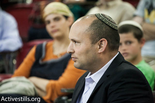 Jewish Home party chairman Naftali Bennett (Photo by Activestills.org)