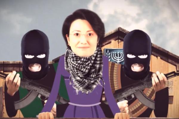 Screenshot from Danny Danon's anti-Zoabi campaign video.