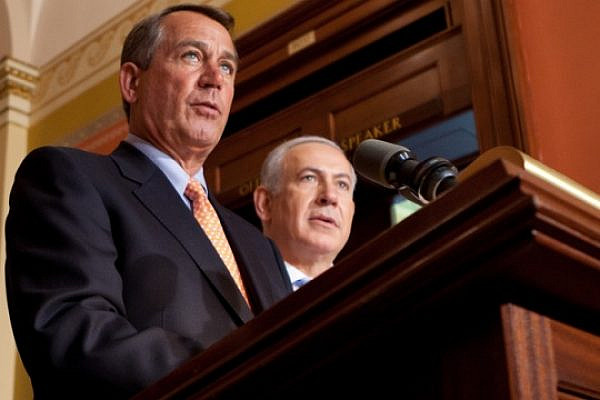 Speaker Boehner holds a press conference with Israeli Prime Minister Binyamin Netanyahu and Congressional leaders following his address to a joint meeting of Congress. May 24, 2011. (Speaker Boehner / CC-BY NY 2.0)