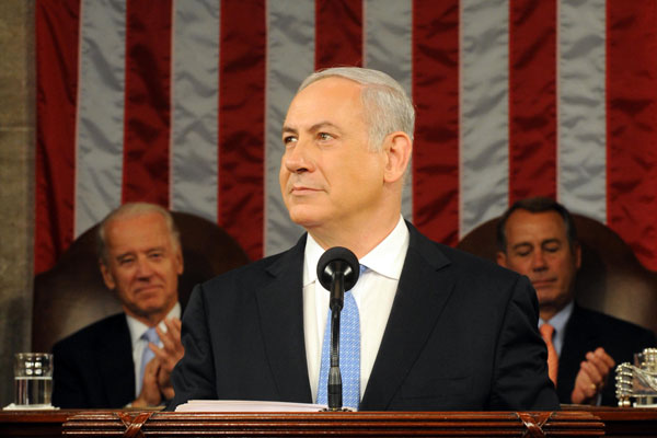 Israeli Prime Minister Netanyahu addresses a joint session of the U.S. Congress, May 24, 2011. (Photo by Avi Ohayun/GPO)