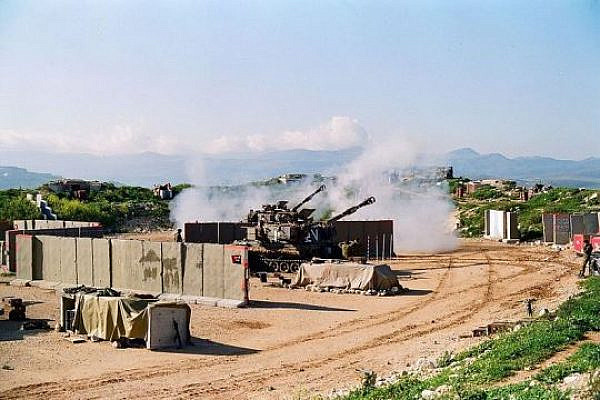 IDF artillery in South Lebanon., 1996 (Oren 1973 CC-BY 4.0(
