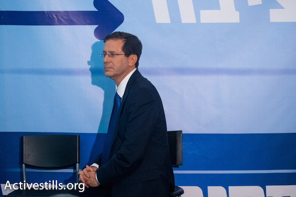 Labor Party leader Isaac Herzog. (Photo by Yotam Ronen/Activestills.org)