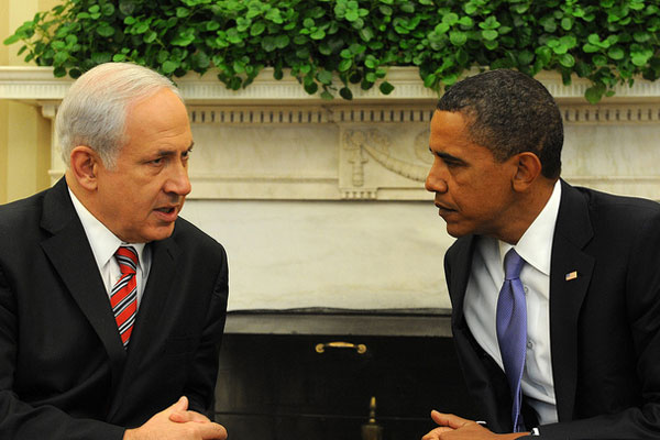 U.S. President Barak Obama meets with Israeli Prime Minister Benjamin Netanyahu in Washington (White House photo)