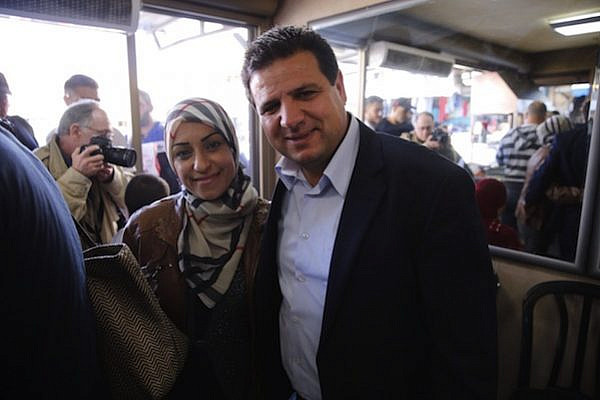 Joint Lost leader Ayman Odeh on the campaign trail (photo: Courtesy)
