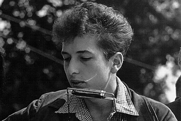 Bob Dylan at the Civil Rights March on Washington, D.C., August 28, 1963. (Photo: Rowland Scherman, Nat'l Archives)