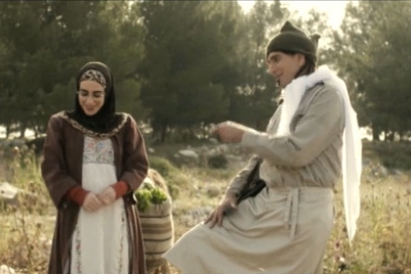 Screenshot of an 'Eretz Nehederet' skit on the Nakba.