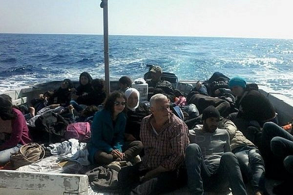 Palestinian refugees from Syria fleeing the horrors of war on a boat originally headed to Italy.