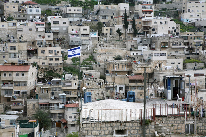A Jewish settlement is seen in the Palestinian neighborhood of Silwan, East Jerusalem, March 28, 2007. (Activestills.org)