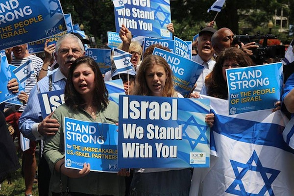 A pro-Israel rally, Washington D.C, July 18, 2014 (photo:  Israel Ministry of Foreign Affairs)