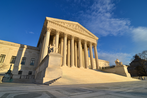 Stock photo of the United States Supreme Court in Washington DC (Orhan Cam/Shutterstock.com)