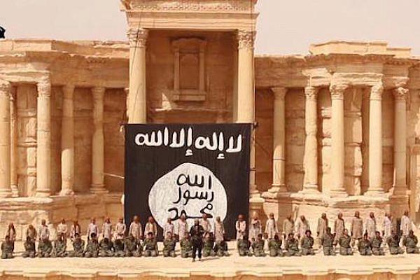 ISIS conducting a mass execution in the ancient city of Palmyra, Syria.