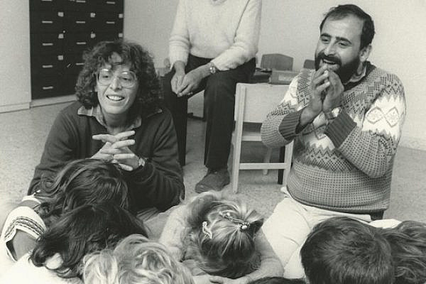 Edi Edlund (left) and Abed Islam, founders of the Neve Shalom/Wahat Al Salam school. (Courtesy of Neve Shalom/Wahat Al Salam)