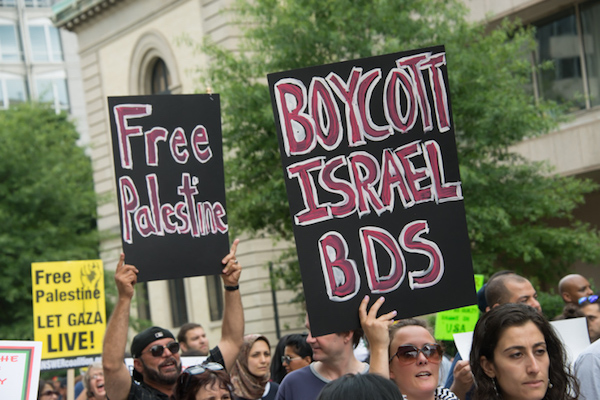 Thousands march in Washington, D.C., to protest against U.S. support for Israel's offensive in Gaza, August 2, 2014. So far, Israeli attacks have killed at least 1,622 Palestinians, the majority of them civilians, including 326 children.