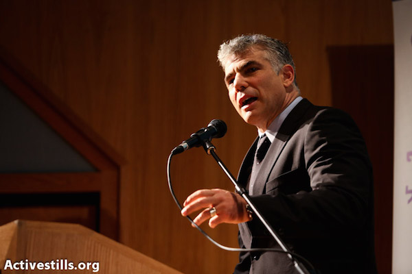 Yair Lapid (Photo by Yotam Ronen/Activestills.org)