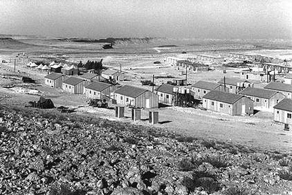 Mitzpe Ramon development town, southern Israel, 1957. Immigrants from North Africa and Romania were sent by the state to live in the Negev-area community.  (GPO)