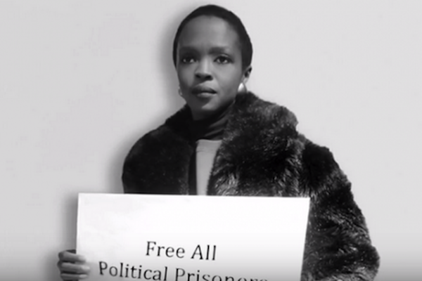 Lauryn Hill featured in the 'Black-Palestinian Solidarity' video. (YouTube screenshot)