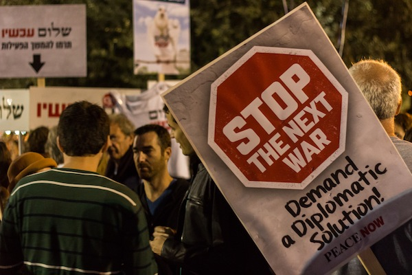 Peace Now at the Rabin memorial rally in Rabin Square, Tel Aviv, November 1, 2014. (photo: Oren Rozen/CC BY-SA 3.0)
