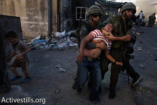 Illustrative photo of a Palestinian minor is arrested by Israeli Police in East Jerusalem. (photo: Activestills.org)