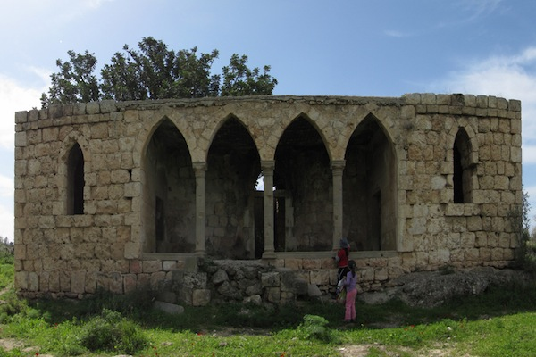 The remains of a historic mansion from the Palestinian village of Beit Jibrin, now part of Kibbutz Beit Guvrin. (photo: צולם על ידי שלומי שטרית)