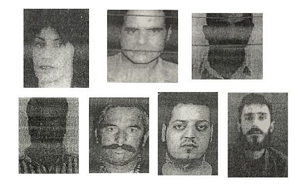 Photo lineup used to identify Khalida Jarrar. Can you pick out the female suspect? (A photocopy from the investigation file)