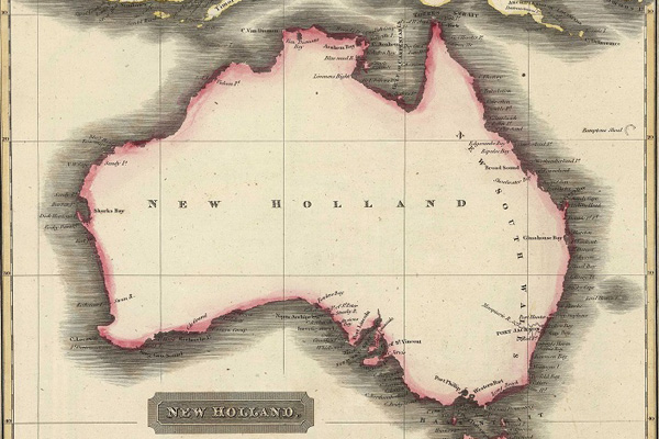 Australia is vast. Map by Aaron Arrowsmith, dated 1817.