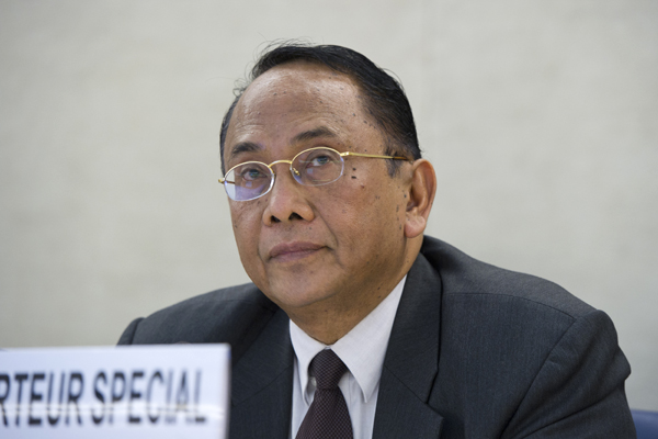 Special Rapporteur on Human Rights Situation in the Occupied Palestinian Territory Makarim Wibisono, 23 July 2014. (UN Photo/Violaine Martin)