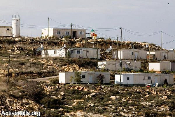 Illustrative photo of Israeli settlement outpost. (photo: Keren Manor/Activestills.org)