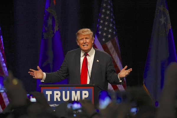 Republican presidential candidate Donald Trump at a campaign event in Las Vegas. (Photo by Joseph Sohm / Shutterstock.com)
