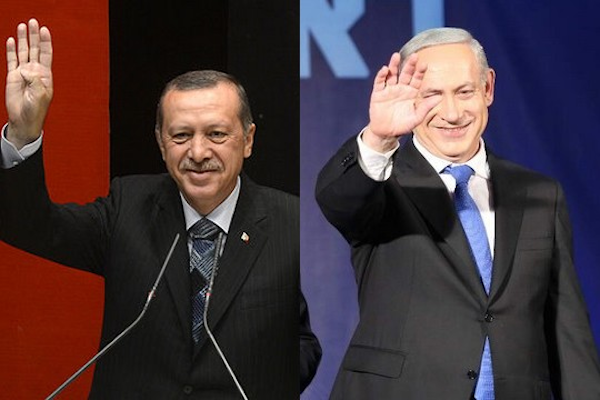 Netanyahu and Erdogan. (photos by Yotam Ronen/Activestills.org and Wikimedia)