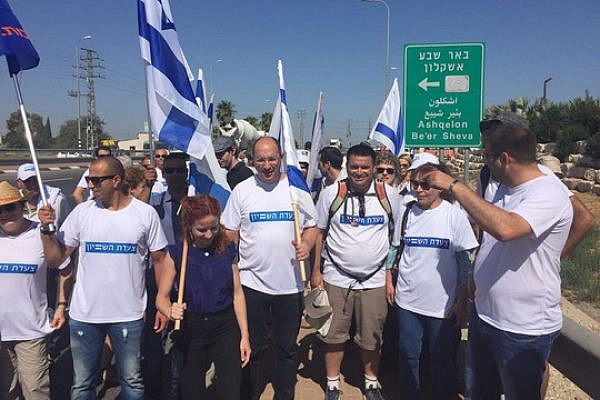 Members of Knesset Stav Shafir, Oren Hassan and others participate in the March for Equality, June 20, 2016. (Photo: Histadrut spokesperson)