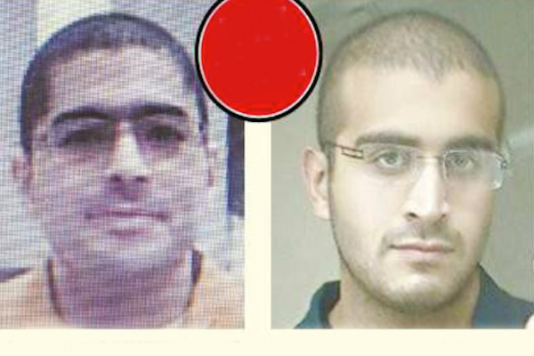 A photo comparison of Omar Mateen, who murdered 50 people in an Orlando gay club, and Neshat Melhem, a Palestinian citizen of Israel who shot three Israelis to death earlier this year. (photo: Israel Hayom)