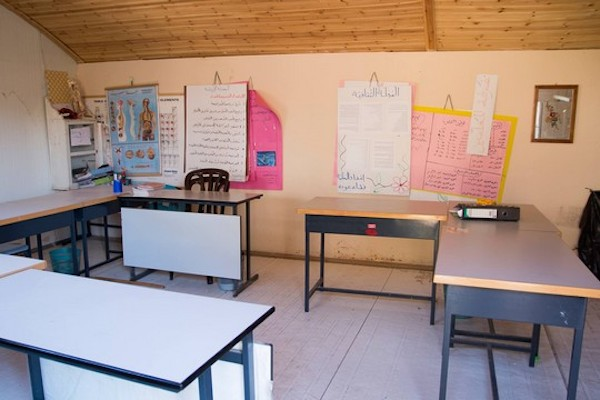 A classroom in Arab a-Ramadin's children's school. (Tatyana Gitlits/Combatants for Peace)