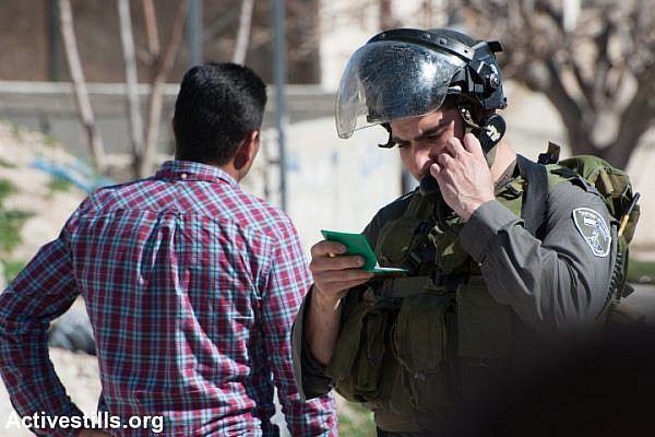 Illustrative photo of Israeli Border Police arresting a Palestinian activist. (Ryan Rodrick Beiler/Activestills.org)