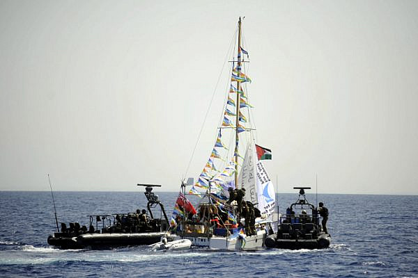 Israeli naval forces seize control of one of the ships trying to break the siege on Gaza in September 2010. (IDF Spokesperson)