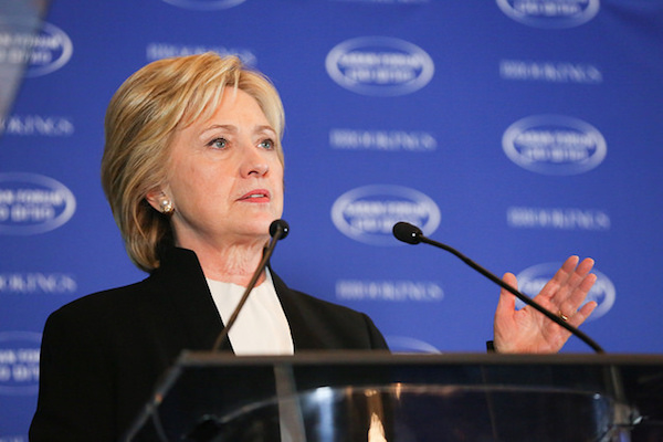 Hillary Clinton addresses the Saban Forum at the Brookings Institute, December 6, 2015. (Brookings Flickr) We now know what she decided not to say about Palestinian rights that day.