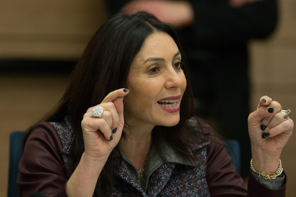 Minister of Culture Miri Regev in the Israeli Knesset on January 27, 2016. (Yonatan Sindel/Flash90)