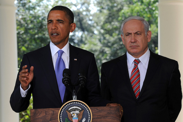 File photo of U.S. President Barack Obama and Israel Prime Minister Benjamin Netanyahu. (Moshe Milner/GPO)