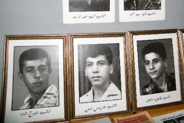 Portraits of the Arab boys who were beaten, tortured, and shot to death before being returned to their families. (Courtesy of Al-Jalil)