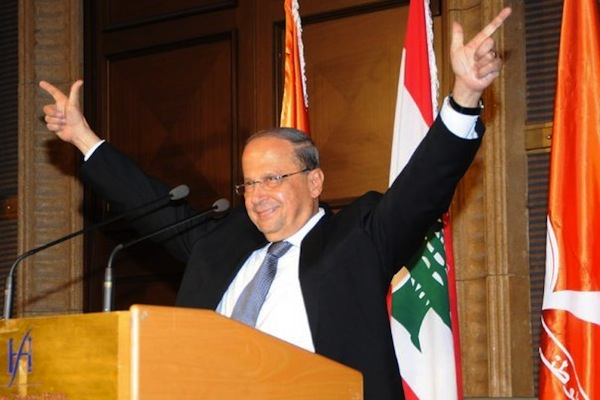 Lebanese President Michel Aoun, September 15, 2015. (photo: Imadmhj/CC BY-SA 4.0)