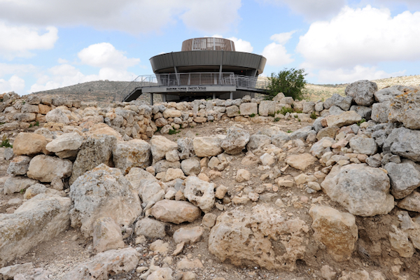 The visitor's center at the West Bank archeological site of Shiloh, in the Israeli settlement of Shilo. (Mendy Hechtman/Flash90)