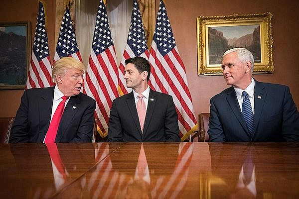 Speaker Paul Ryan meets with the President and Vice President-elect, Donald Trump and Gov. Mike Pence on Capitol Hill after their election. (Office of the Speaker of the House)