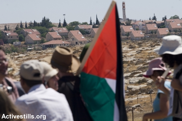 File photo of Jewish activists taking part in a protest against settler violence, Susya, West Bank. (Oren Ziv/Activestills.org)