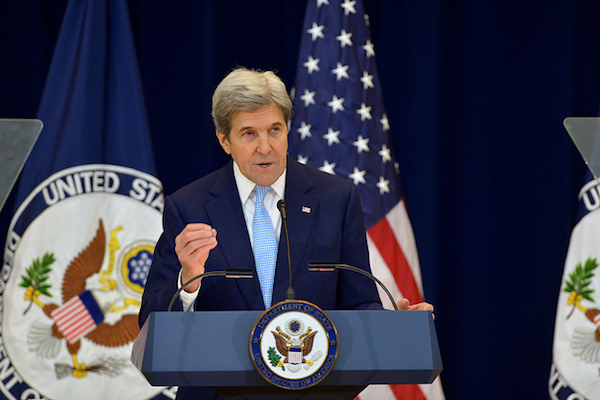 U.S. Secretary of State John Kerry delivers remarks on Middle East peace, Washington, DC, December 28, 2016. (State Dept Photo)