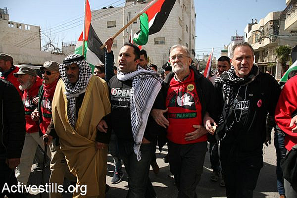 Open Shuhada Street demonstration in Hebron, February 24, 2017. (Activestills.org)