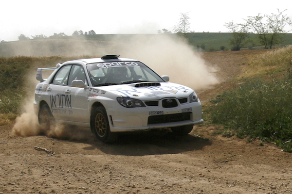 Illustrative photo of an Israeli rally race team training. (Nati Shohat/Flash90)
