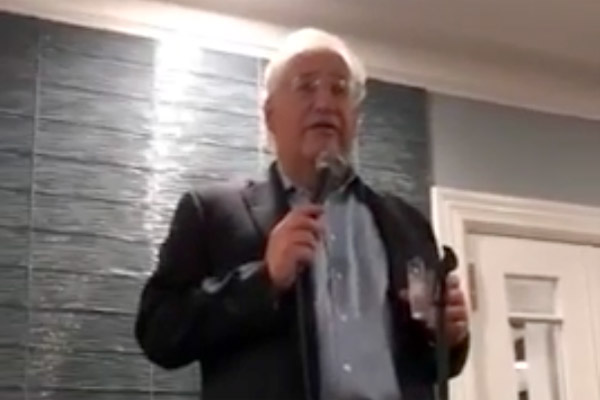 Screenshot of David FriedmanWoodmere, NY on the eve of the election. speaking in