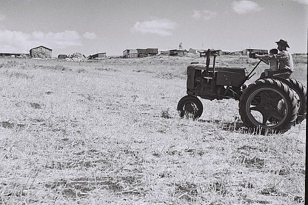 Kibbutz Ma'ayan Baruch in the upper Galilee, 30 September 1949. Photo by Zoltan Kluger (GPO)