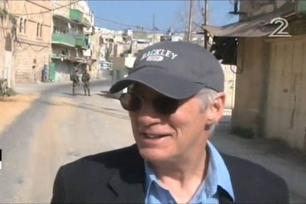 Screenshot of Richard Gere touring the West Bank city of Hebron with Breaking the Silence, March 2017.