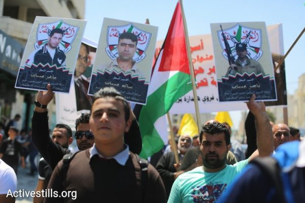 Protest in Bethlehem to mark Palestinian Prisoners' Day, West Bank, April 17, 2017. (Activestills.org)
