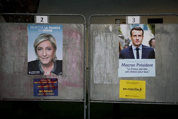 La Pen and Macron posters in France. (Marion Sindel)